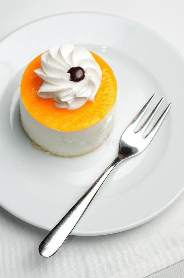 Orange cheesecake royalty free stock image
