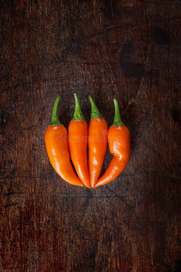 Orange chili fotografering för bildbyråer