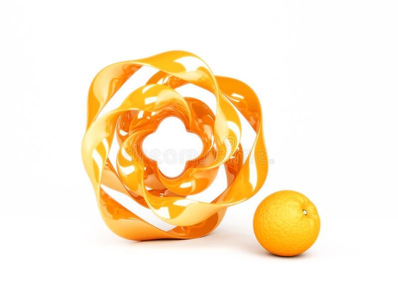 Orange chips stock photo