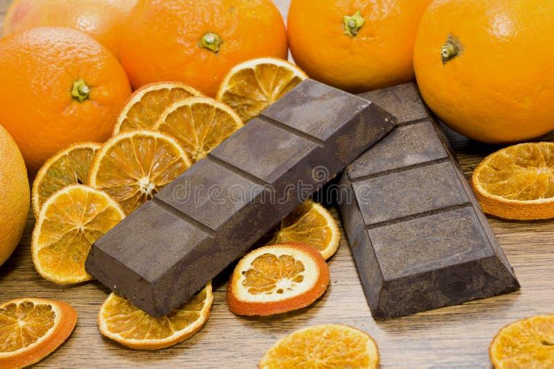 Orange choklad royaltyfri fotografi