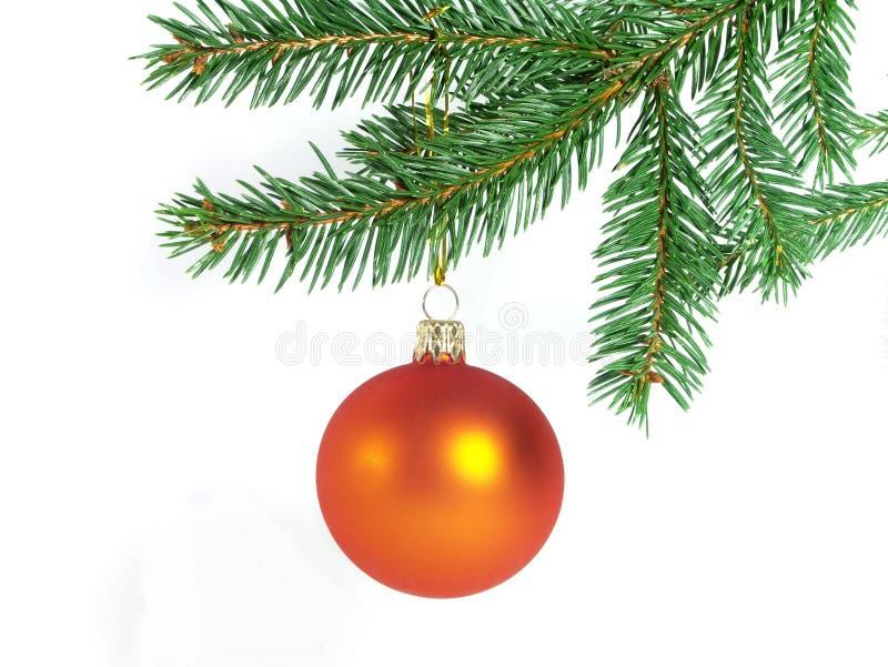 Orange christmas ball royalty free stock photography