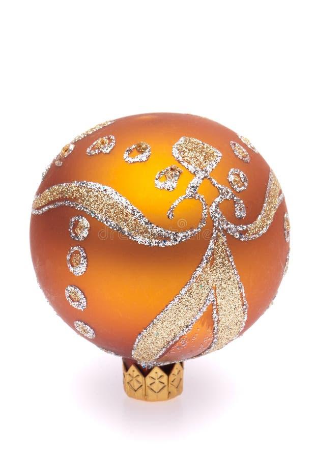 Orange christmas ball royalty free stock photo