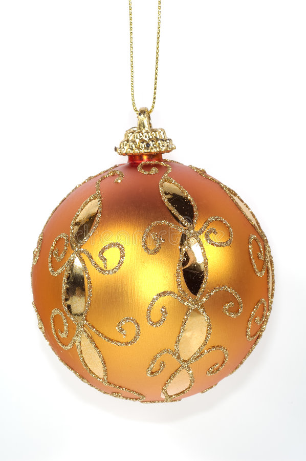 Orange Christmas Ornament stock images