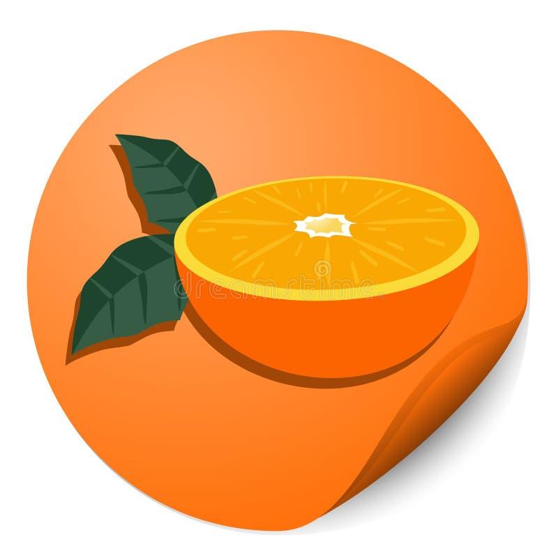 Download Orange circle stick stock vector. Image of circular, fruit - 23532672