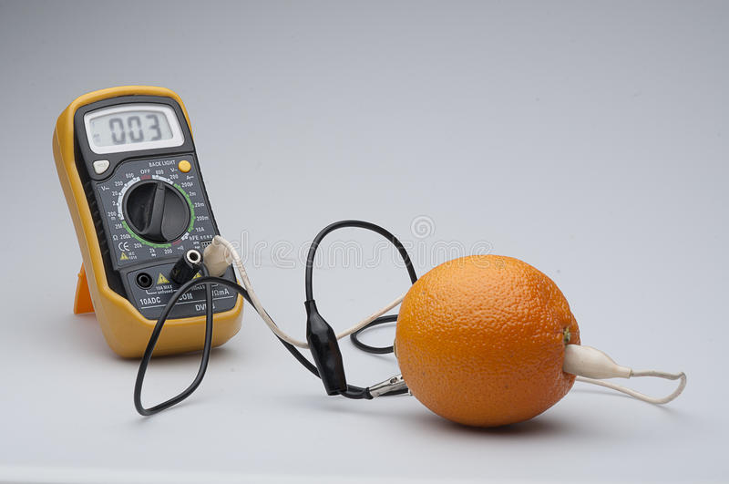 Orange circuit stock image