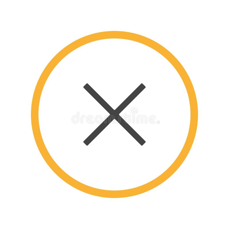Orange cirkel och plus den n vektor illustrationer