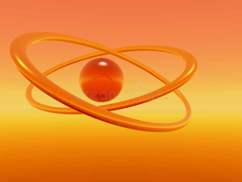 orange cirklar royaltyfri illustrationer