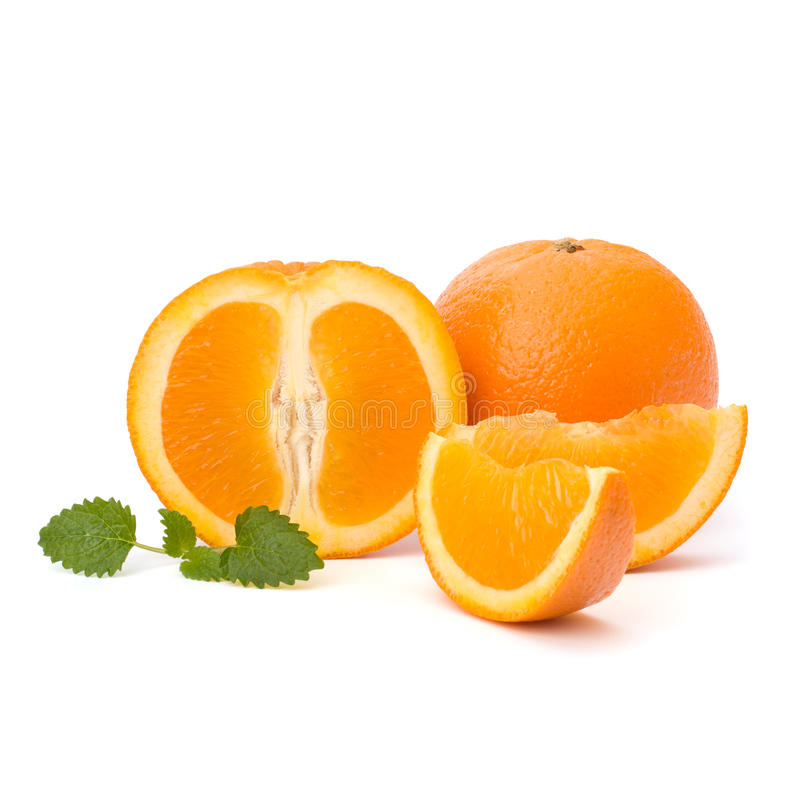 Orange and citron mint leaf stock photo