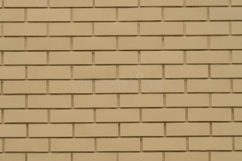 Orange clinker brick wall background. Texture royalty free stock image