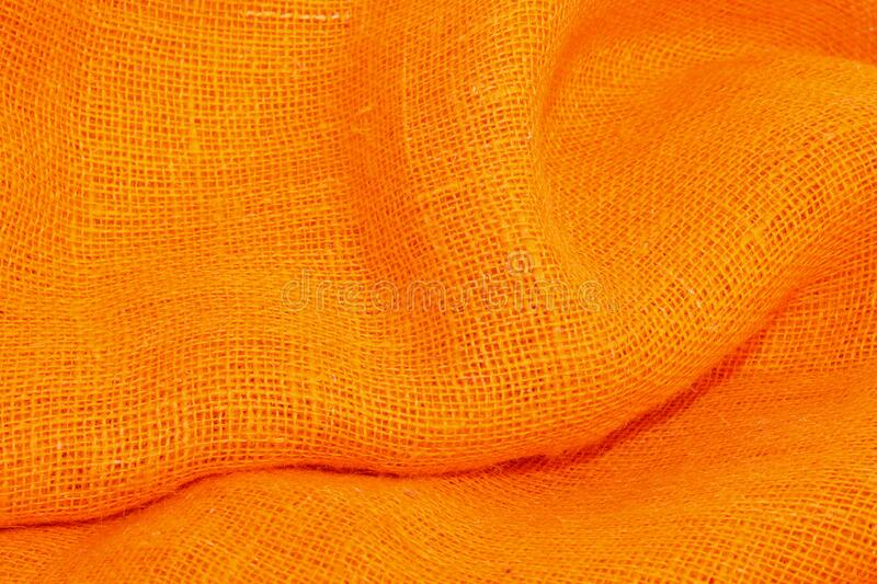 Orange cloth stock photo