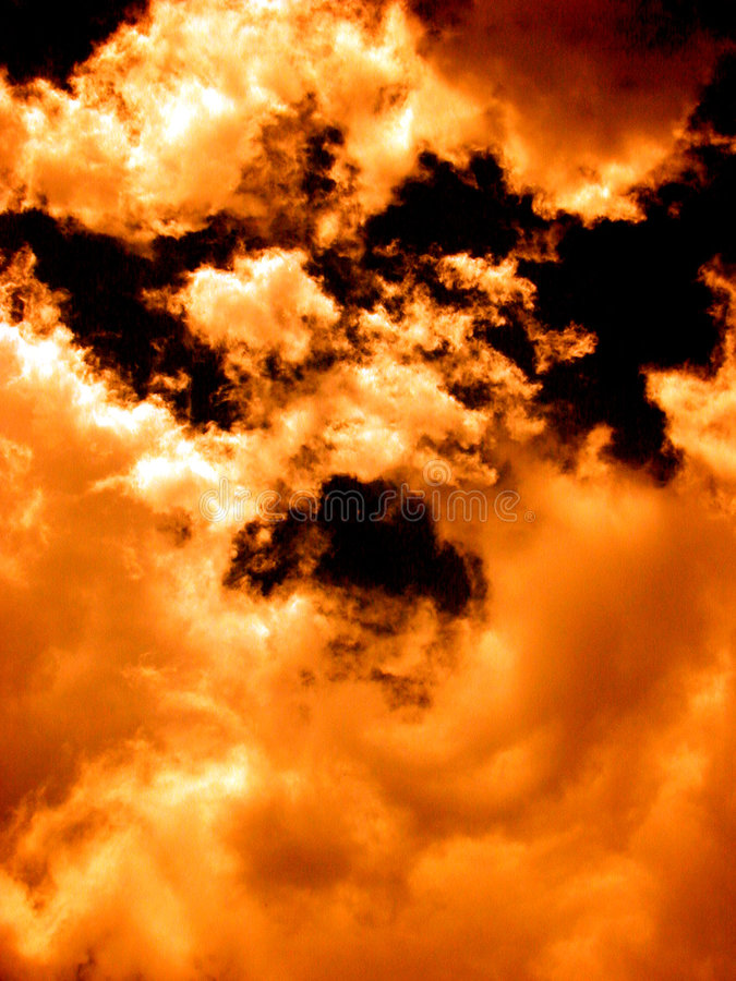 Download Orange Cloudscape - Fire In The Sky Stock Image - Image of nature, heaven: 19511
