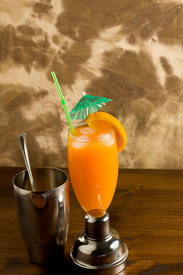 Download Orange Cocktail stock image. Image of beach, first, glass - 14566167