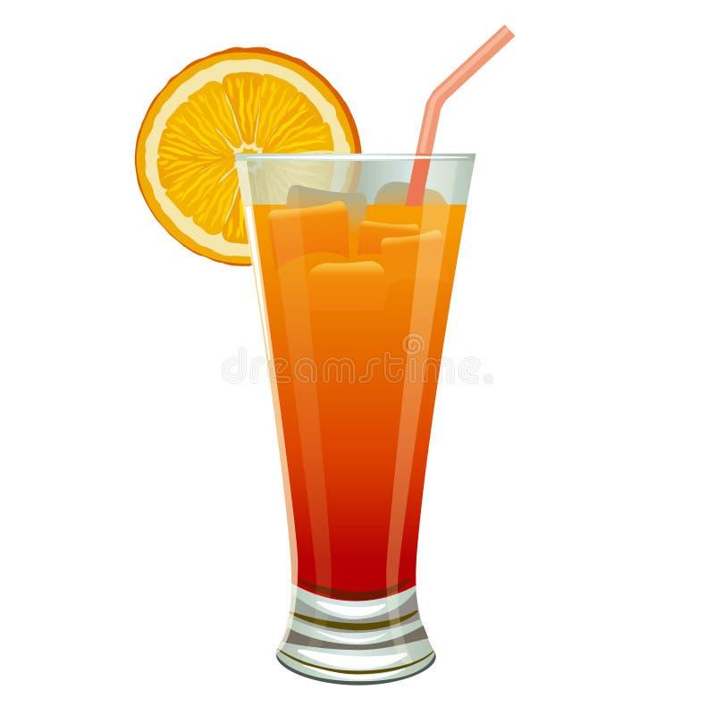 Orange cocktail stock illustration