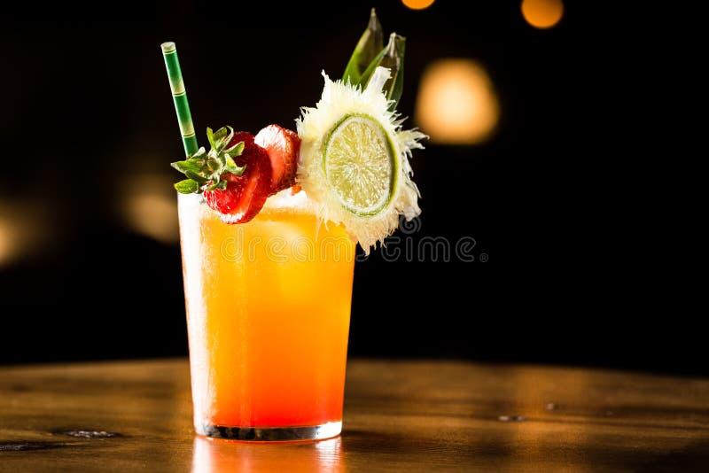 Orange cocktail royalty free stock image