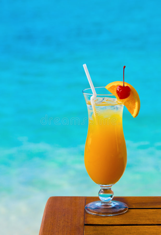 Orange Cocktail On Table Royalty Free Stock Image