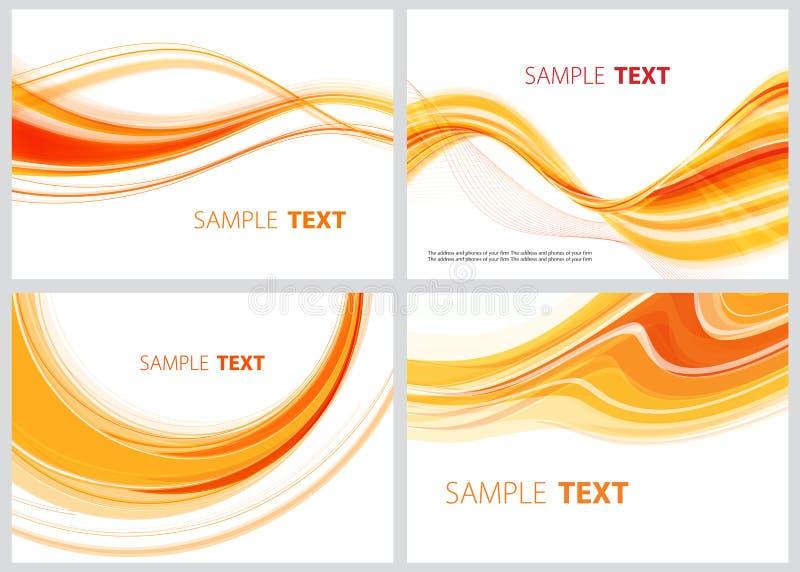 Orange collection. Set of abstract orange lines for design vector illustration