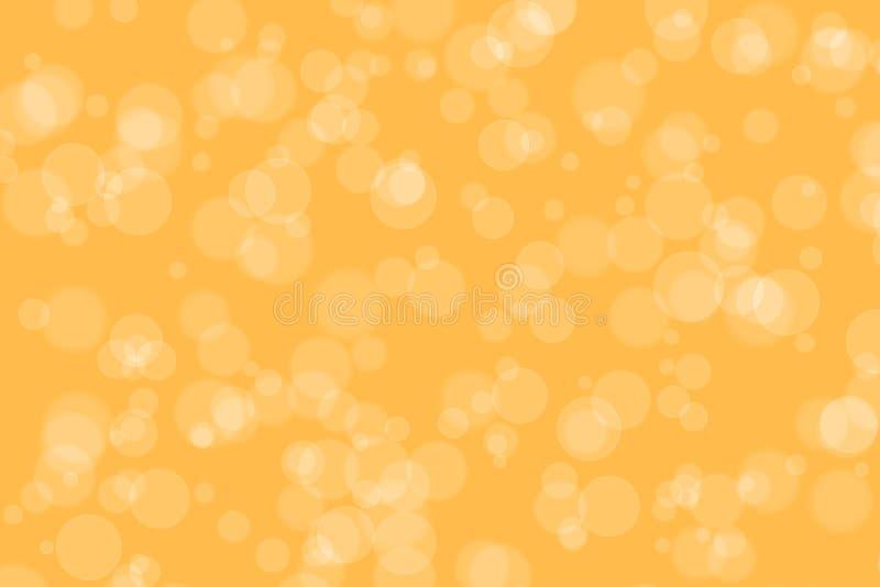 Orange Color Blur Bokeh for Background vector illustration