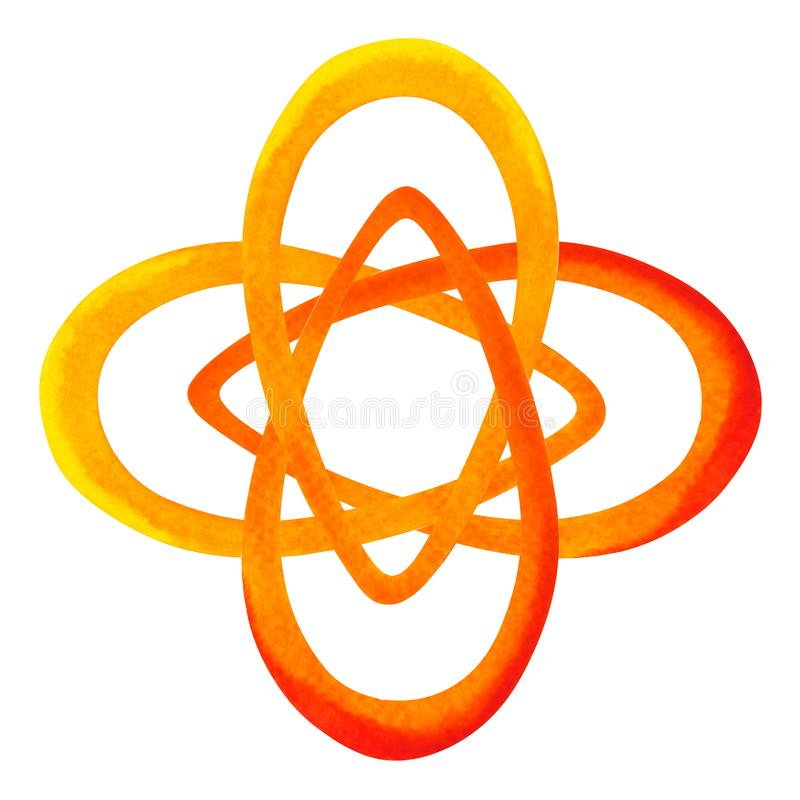 Orange color of chakra symbol sacral concept, flower floral stock illustration