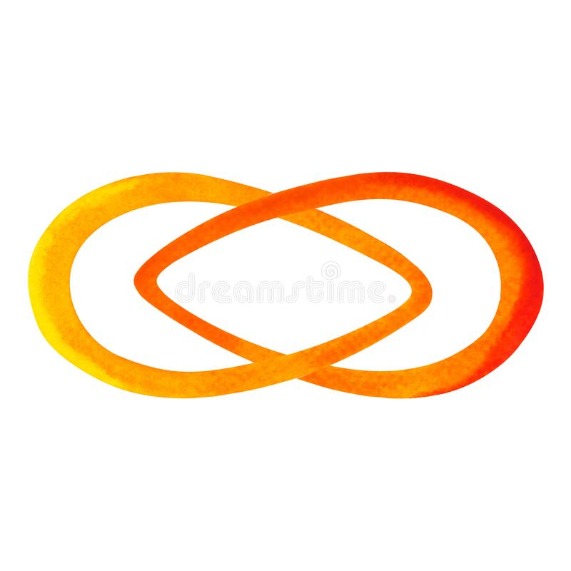 Orange color of chakra symbol sacral concept vector illustration