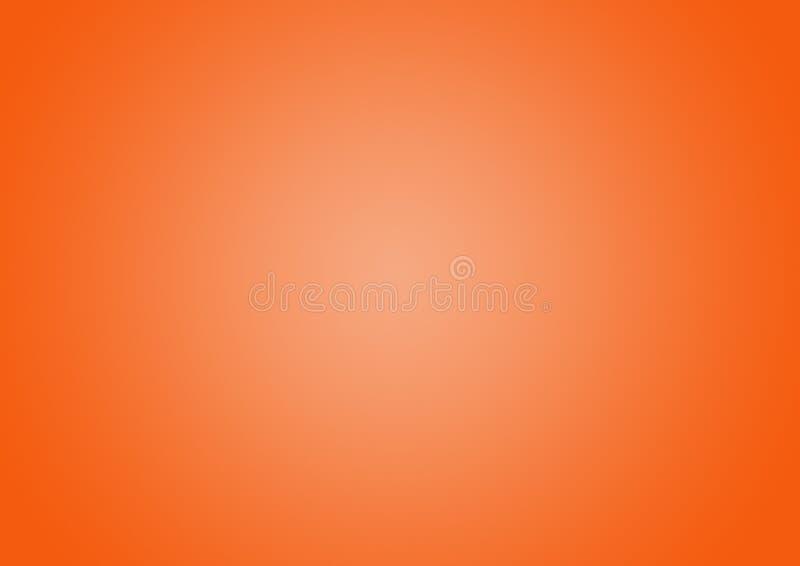Orange color Gradient defocused abstract background. stock illustration