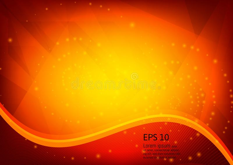 Orange color and light geometric gradient illustration texture abstract vector background stock illustration