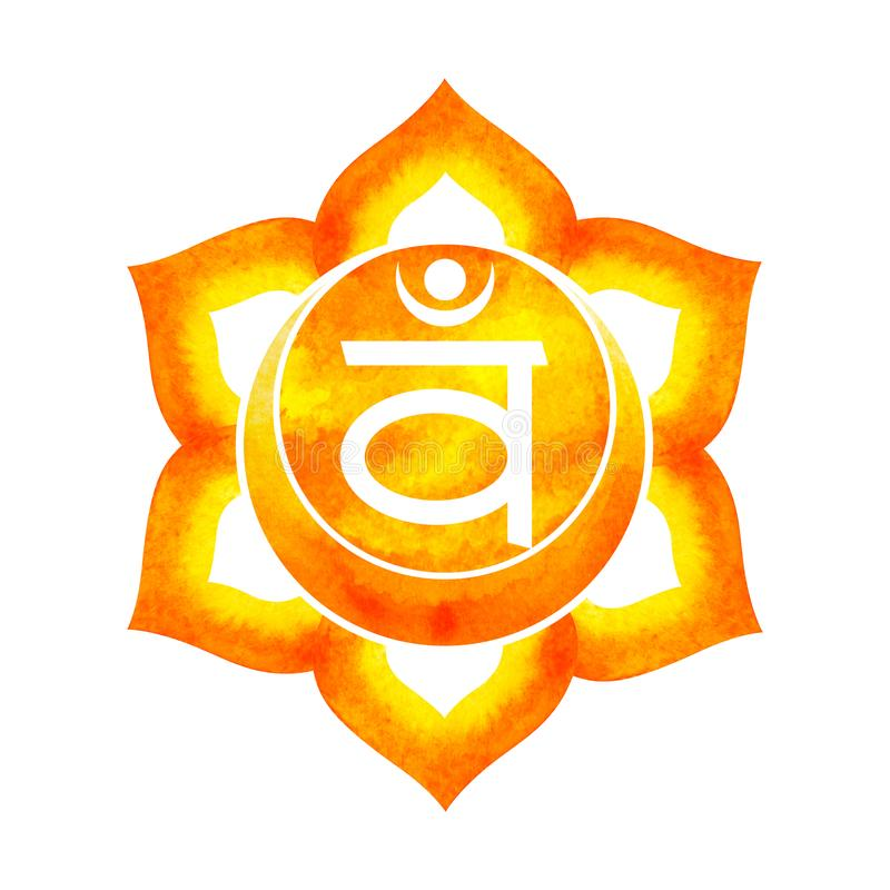 Free Orange Color Of Chakra Symbol Sacral Concept, Flower Floral Royalty Free Stock Images - 122895089