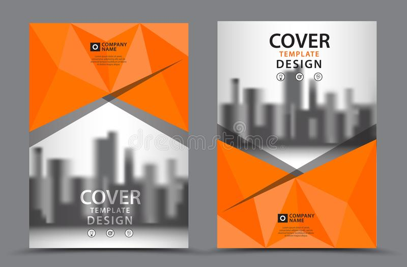 Corporate Book Cover Design Vector : Orange color scheme with city background business book