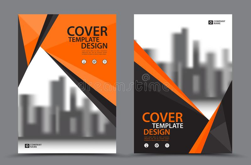 Download Orange Color Scheme With City Background Business Book Cover Design Template In A4 Brochure