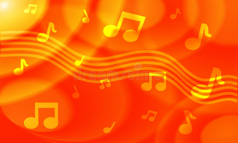 orange colored musical background stock photos image