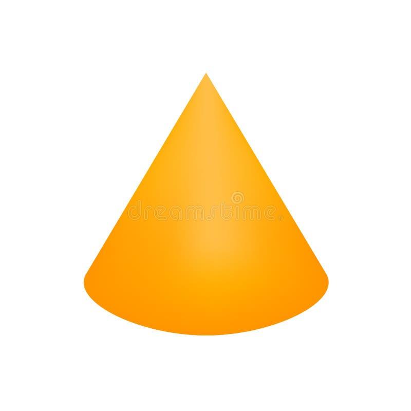 Free Orange Cone Basic Simple 3d Shapes Isolated On White Background, Geometric Cone Icon, 3d Shape Symbol Cone, Clip Art Geometric Royalty Free Stock Photo - 144602575