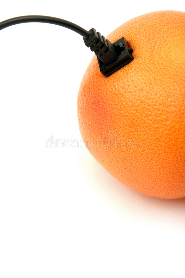 Orange connectée images stock