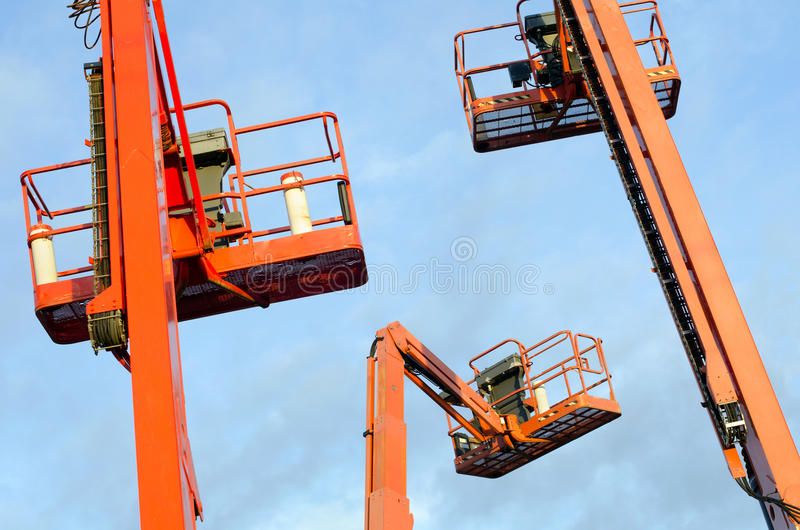 Download Orange Construction Crane Baskets Royalty Free Stock Photo - Image: 24844655