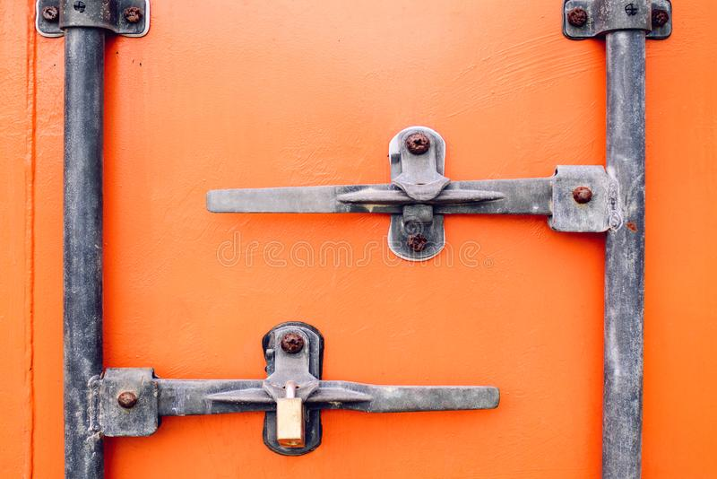 Orange Container Door royalty free stock photos