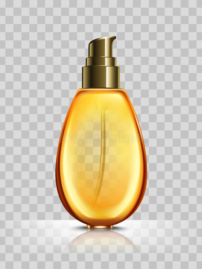 Orange cosmetic bottle stock illustration