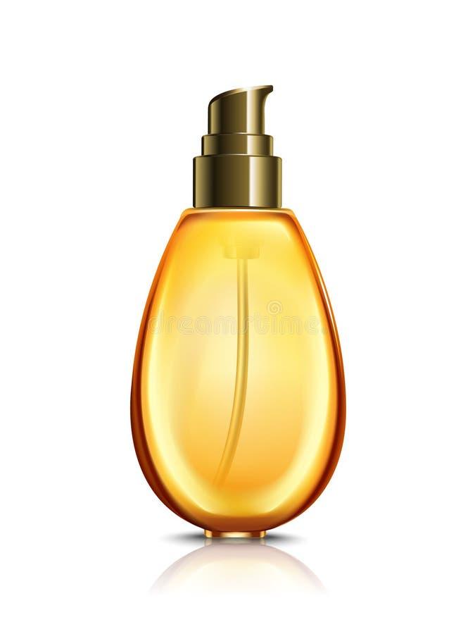 Orange cosmetic bottle vector illustration