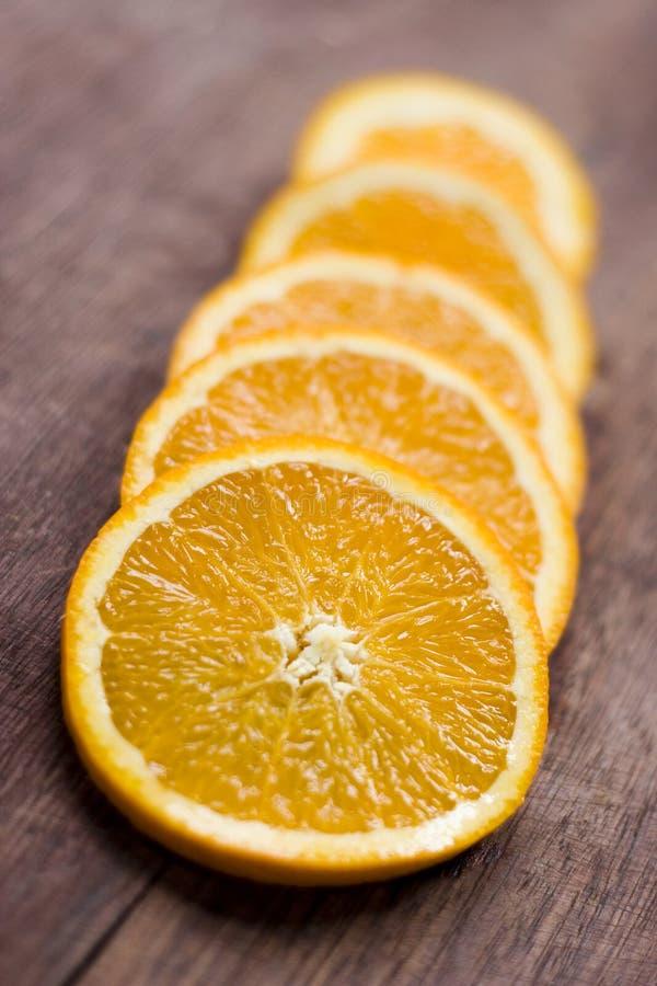 Orange coupée en tranches photos stock