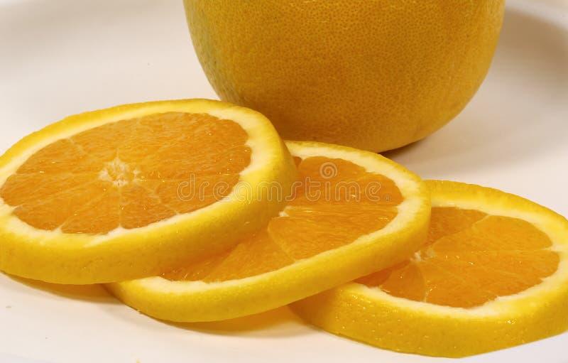 Orange coupée en tranches photographie stock