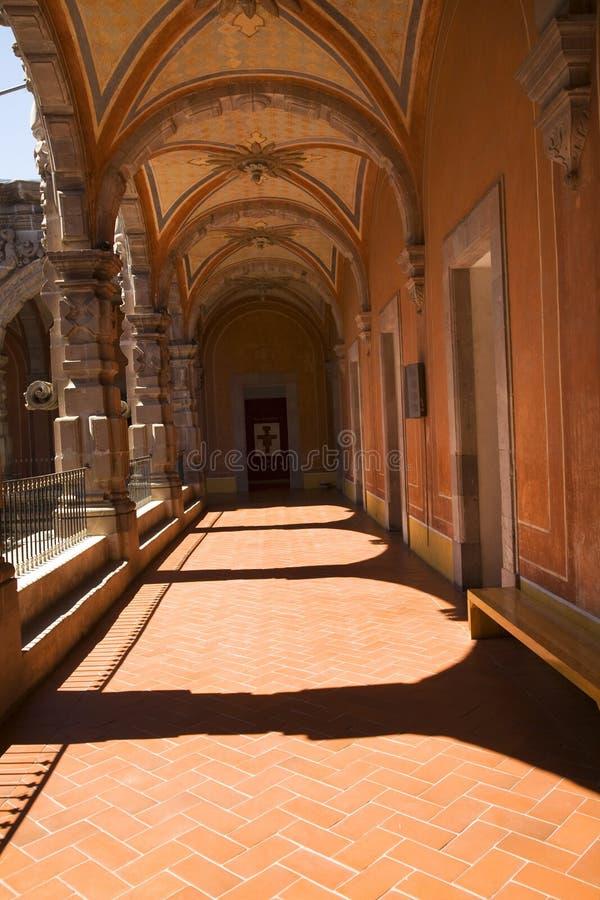 Orange Courtyard Arches Queretaro Mexico