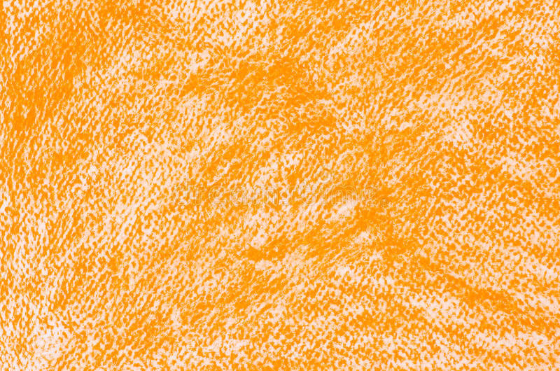 Orange crayon drawings background texture. Orange crayon drawings on white paper background texture stock illustration