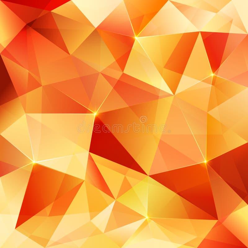 Orange crystal vector abstract pattern royalty free illustration