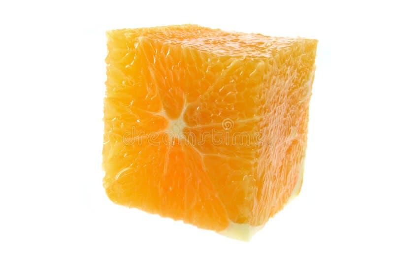 Orange Cube stock images