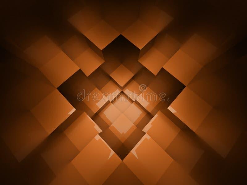Orange cubes background rendered royalty free illustration