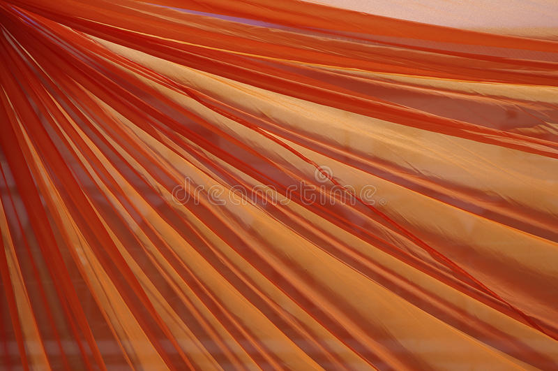 Orange curtain stock photos