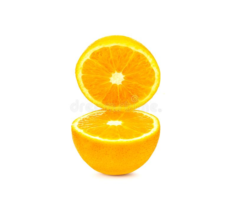 Free Orange Cut In Half Isolated Stock Photography - 105517592