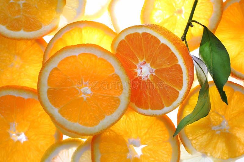 Orange cut with slices. stock image
