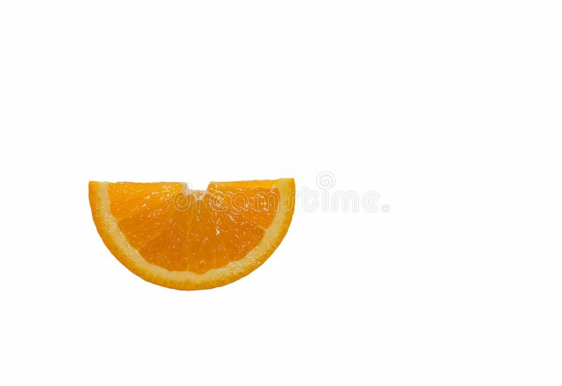 Orange cut into thin slices. royalty free stock images