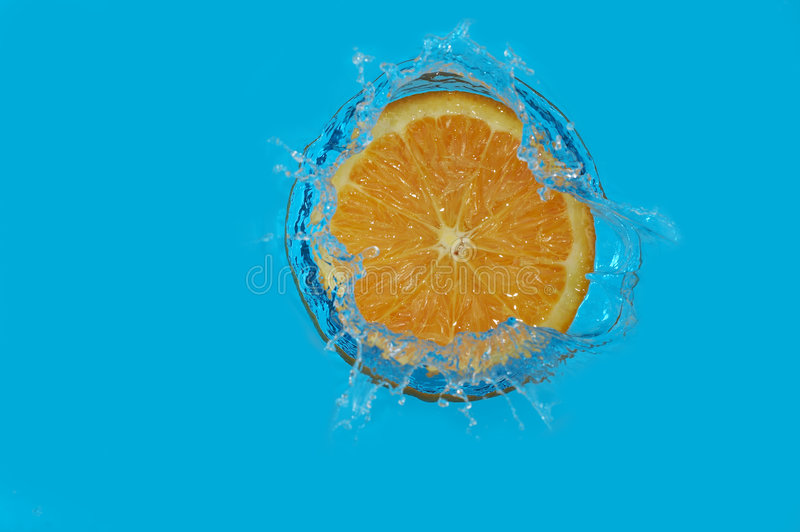 Orange d'éclaboussure image libre de droits