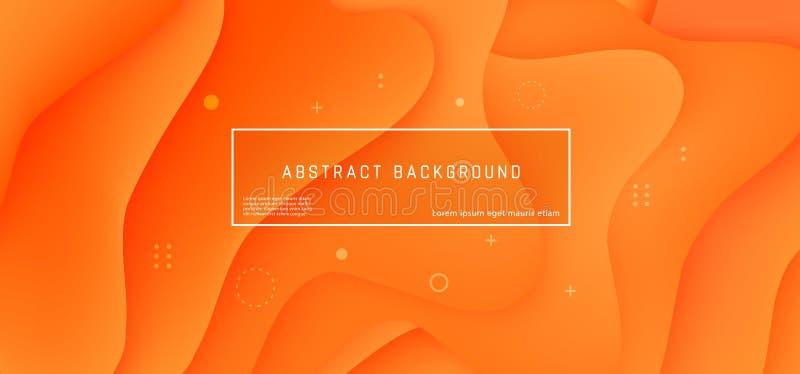 Orange d'écoulement de mouvement de vague de fond d'abrégé sur vecteur illustration libre de droits