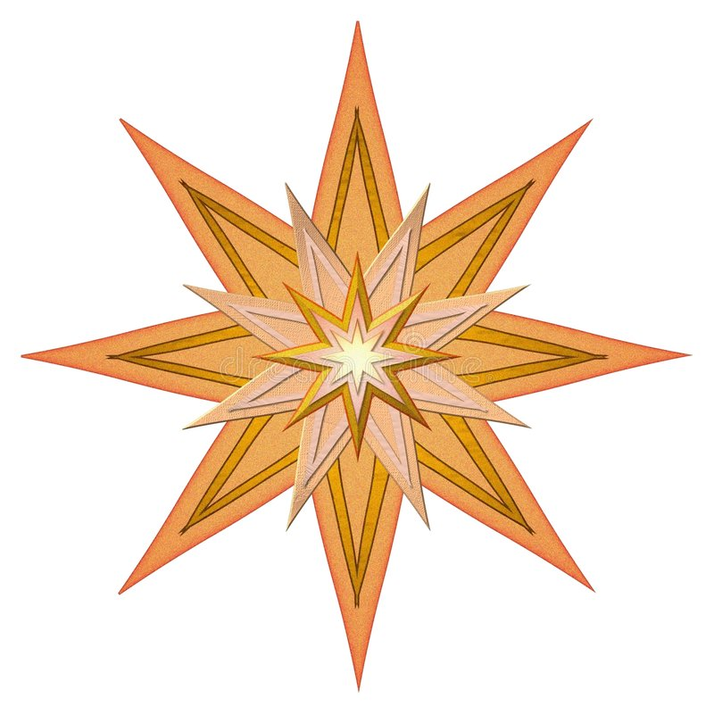 Orange d'étoile illustration stock