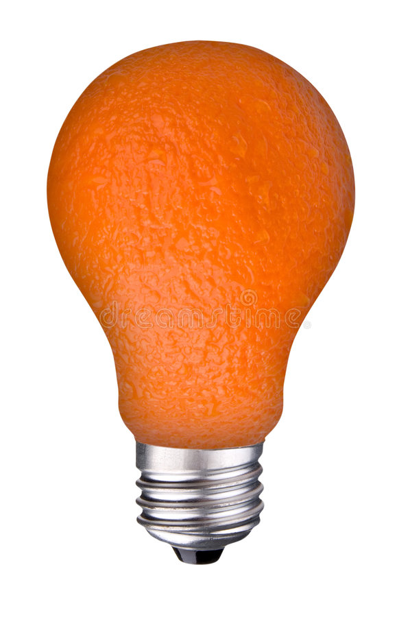 orange d'ampoule photo libre de droits